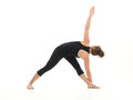 Difficult yoga pose for begginers Stock Photo