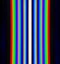 Diffraction of light from the fluorescent lamps obtained by the grating a cold lamp received via color temperature k Stock Photos