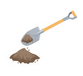 Dig with a spade Royalty Free Stock Photo