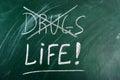 Diga no a las drogas, vida bien escogida Foto de archivo libre de regalías