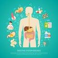 Digestive System Diseases Illustration