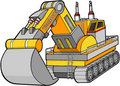 Digger Construction Vector Royalty Free Stock Photo