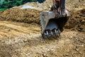 Digger excavator bucket bulldozer Royalty Free Stock Photo