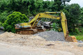 Digger excavator bucket bulldozer Royalty Free Stock Photo