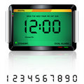 Digital alarm clock green Stock Images