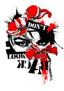 Digital art dont look back grunge poppies red black
