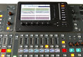 Digital audio mixer monitor and buttons Stock Photo