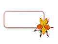 Digital banner with yellow flower Royalty Free Stock Photography
