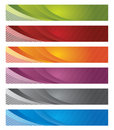 Digital banners in gradient and lines Royalty Free Stock Photo