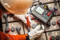 Digital battery tester Royalty Free Stock Photo