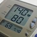Digital blood pressure meter Royalty Free Stock Photo