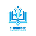 Digital book - vector logo template concept illustration. New education creative sign. Modern school abstract symbol. Royalty Free Stock Photo