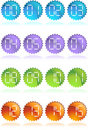 Digital Buttons - Seal Stock Photo