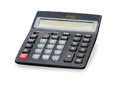 Digital calculator close up over white black Royalty Free Stock Photography