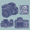 Digital camera drawing Royalty Free Stock Photo