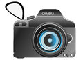 Digital camera an illustration of a Royalty Free Stock Images