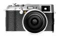 Digital camera isolated on white background DSLR Stock Photography