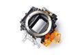 Digital camera mirror box Royalty Free Stock Photo