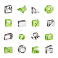 Digital Camera Performance icons Royalty Free Stock Photo