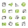 Digital Camera Performance icons Royalty Free Stock Photo
