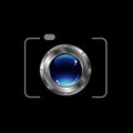 Digital camera photography logo d Royalty Free Stock Photo