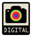Digital camera sign Stock Image