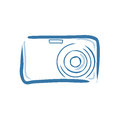 Digital camera vector illustration on a white background Stock Images