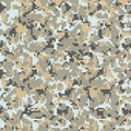 Digital camo background. Seamless camouflage pattern. Modern military texture. Desert grey and brown sand color