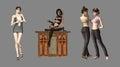 Digital Characters Stock Image