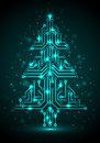 Digital Christmas tree Stock Photography