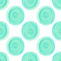 digital circles spiral blue seamless pattern on white background