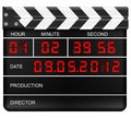Digital clapper board Royalty Free Stock Photos