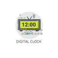 Digital Clock Countdown Watch Icon
