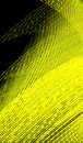 Digital code yellow background rendered illustration Royalty Free Stock Photo