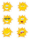 Digital collage of happy sun faces Royalty Free Stock Photos