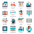 Digital Commerce Icons Royalty Free Stock Photo