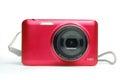 Digital compact photo camera isolated Royalty Free Stock Photo