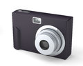Digital compact photo camera on the white isolated background Royalty Free Stock Image