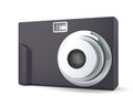 Digital compact photo camera on the white isolated background Stock Photo