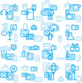 Digital device background Stock Image