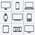 Digital devices icon set Royalty Free Stock Photo