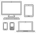 Digital devices on white Stock Photo