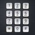 Digital dial plate of security lock or telephone keypad vector Royalty Free Stock Photo
