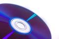 Digital disc storage DVD isolated on white Royalty Free Stock Photo