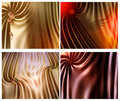 Digital drapes group of four digitally created colorful Stock Images