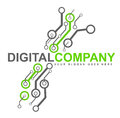 Digital Electronics Logo Royalty Free Stock Images