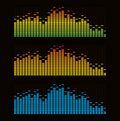 Digital equalizer Royalty Free Stock Photo