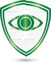 Digital eye and coat of arms, security and IT services logo