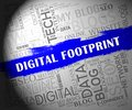 Digital Footprint Website Cyber Track 2d Illustration
