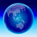 Digital globe. Australia, Asia. Royalty Free Stock Photos
